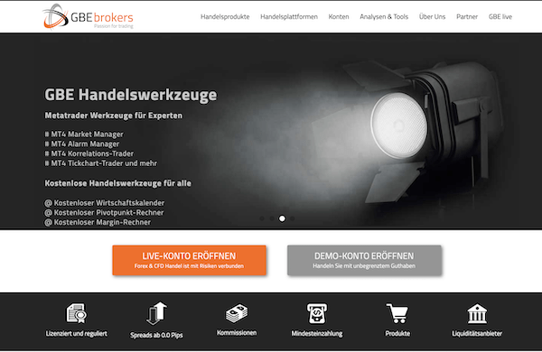 GBE brokers Pros und Contras