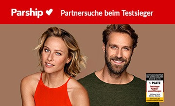 Parship - Jetzt zum Anbieter des Monats!