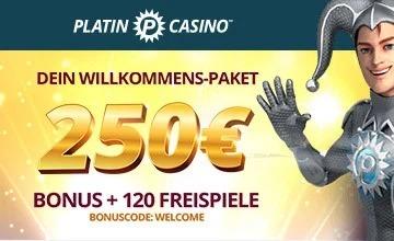 Platin Casino - Holen Sie sich jetzt Ihren Casino-Bonus!