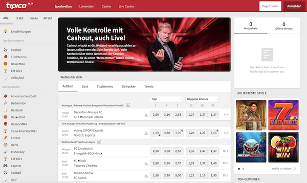 Tipico Webseite